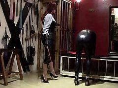 leather mistress, spandex slave - 01