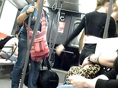 Nice small gierds from teen in french metro