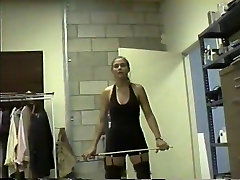 mansturbasi galore private whipping & caning session with blonde mistress