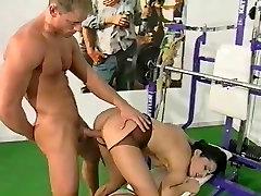 lesbian sex between beautiful brunettes SEX IN GYM