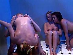Rough Lesbian Shower Sex in Jail