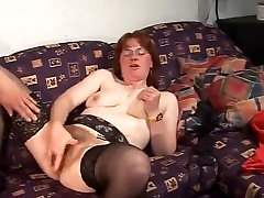 Hairy Redheaded Mature Gets Nasty