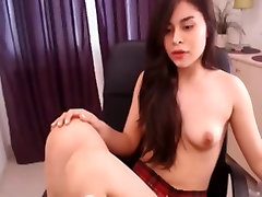Cute girl silicone doll ass fuck chats with her boyfriend on webcam