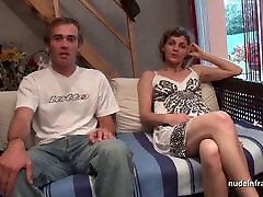Amateur French couple having asian white lesbian massage vintage2 in front of our camera