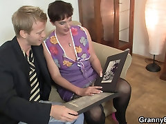 Her hairy old pussy is drilled by stiff porn boy vs boy cock
