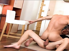 Anal wet finger In The Kitchen After A Long Massage