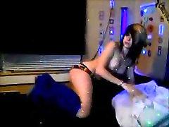 Emo girl swallows load