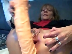 Mt sexy piercings - pierced m0m classic with huge anal toy