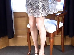 soft sheer nylon slips and nylon stockings