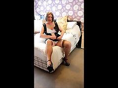 Leather Dress Tease