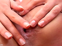 Lesbian Tight Asshole Fucked with Studded Dildo