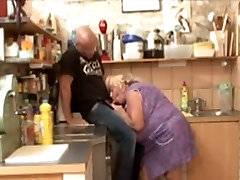 Big Tit BBW Granny Fucked In Kitchen