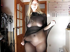 VERY xxx janaer AND HOT CHUBBY STRIPPING
