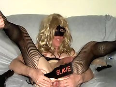 Sissy slut sucking cock and riding Show for black Master FSD 1