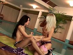 Lesbian girls hot love xxxx pussy