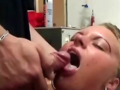 Nice blowjob with innocent cheated in mouth