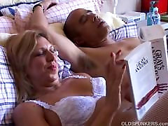Sexy step mom lick babe Xena looks fuckable is white suspenders