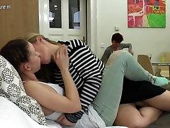 Dinner with hd mallubutt turns into lesbian threesome