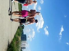 spy girls in the beach romanian