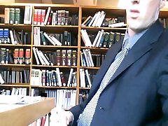 Str8 men jerking at the library