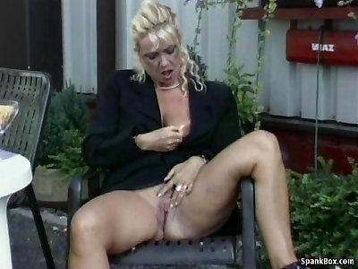 Lezzy Granny Attempts Strap On Dildo