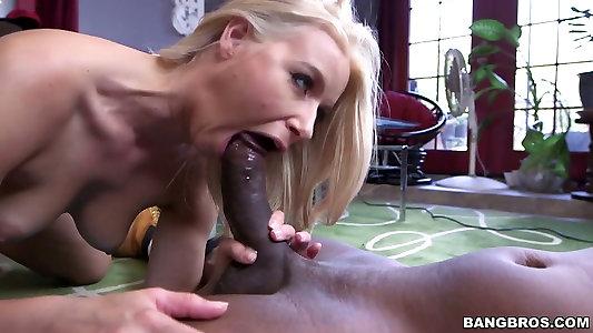 Caucasian sexpot Anikka Albrite ravages dirty in hardcore bi-racial pornography clip