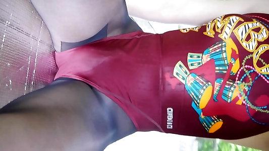 Asian CROSSDRESSER Bathing Suit 7