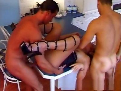 Astounding pornographic star in exotic 3somes, assfucking pornography tweak