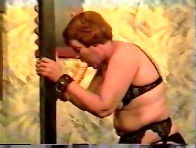 Extraordinaire homemade Vintage, Spanking porn clip