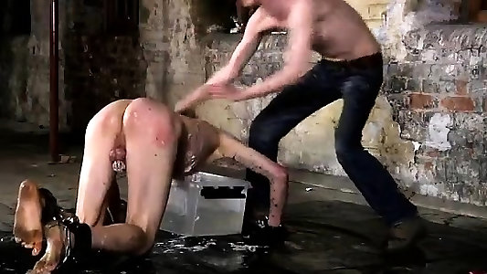 Lush homo fuck-a-thon massage hard-core Shackled to the warehouse floor
