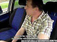 Czech MILF Hooker Fucked in Car
