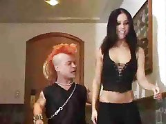 Hot chick gets some anal from a midget with a mohawk..RDL