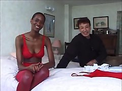 Threesome with a black milf