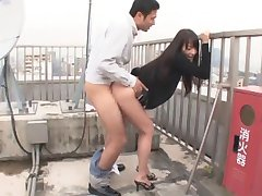 hot honey teen fuck on the roof