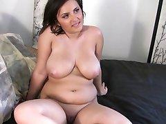 beautiful chubby brunette POV