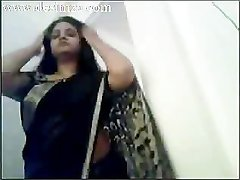 Indian Gujrati Nadia striping and fingering herself on Cam