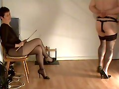 slave is serving his mistress