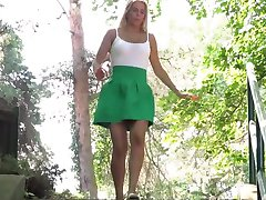 beauty blond public pee