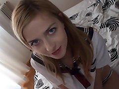 Sexy Blonde Blowjob & Swallow