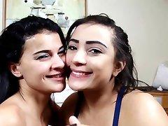 Brazilian Lesbians Deep Kissing