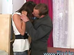 Pretty secretary brutally fucked at her office