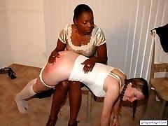 Lana spanks Desiree in Back to School, pt 1