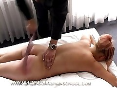Naked and forced on the bed for severe punishment