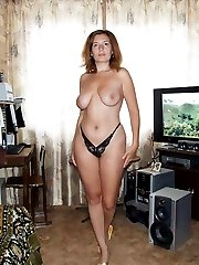 Amateur nudist girl with huge tits