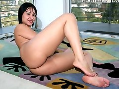 Rosario took the task of dirtying her soft, clean feet seriously. Not only did she shuffle them...