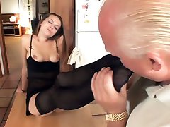 Slutty lady Melissa Julianna meets up with her sugardaddy and got her pussy slurped and her feet...