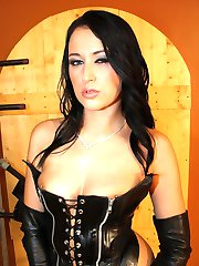 Mistress Ashley with a whip.
