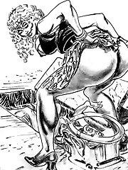 busty hentai femdom strapon mistress ballbusting