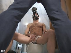 Greedy bathroom-pig Connor is perched in a grungy stall in the public bathroom anxiously...