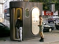Atilla and Christophe meet on the sidewalk during a beautiful afternoon and immediately know what one another are after. They retire to a public toilet and the fun begins. Watch as the hot military muscle man takes apart his young friend, leaving an impression he\'ll be feeling for weeks.